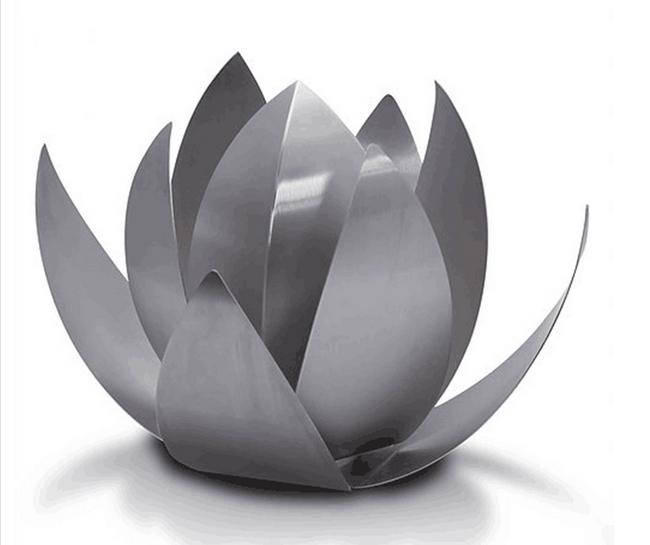 Фигура из нержавеющей стали «ЛОТУС» для декоративных водоемов