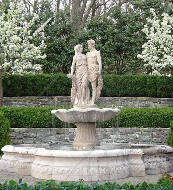 Мраморный фонтан «Адам и Ева»
