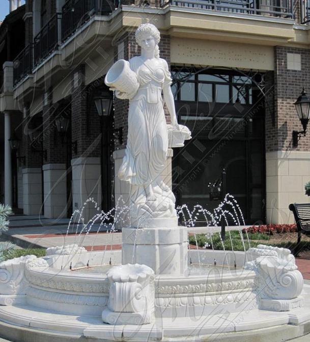 Мраморный скульптурный фонтан «CЕЛЬСКАЯ ДЕВУШКА»