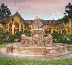 Мраморный фонтан «Львы»