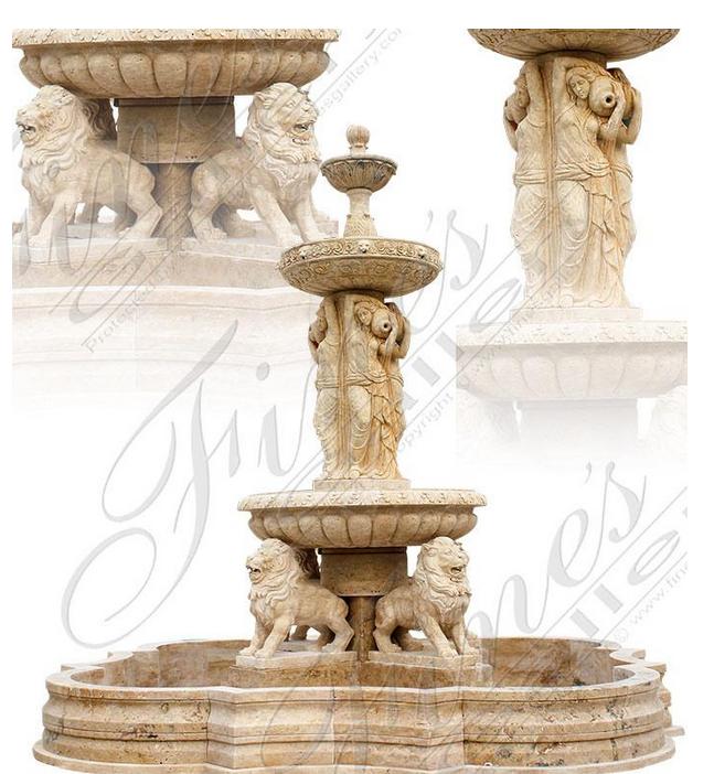 Мраморный фонтан «Леди Со Львами»