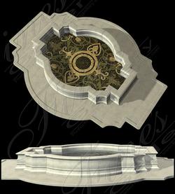 Водная чаша для фонтана с мозаичным орнаментом