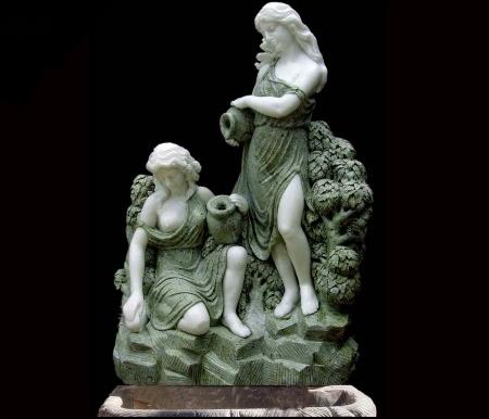Скульптурный фонтан из мрамора «Свежесть»