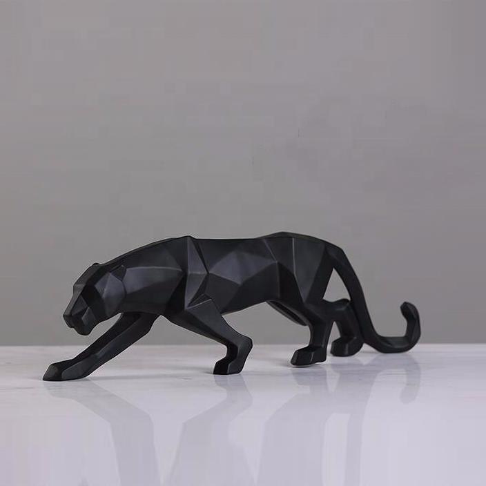 Абстрактная скульптура леопарда в естественный рост из нержавеющей стали