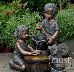 """Скульптурный фонтан """"Дети, играющие с водой"""""""