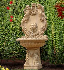 Настенный мраморный фонтан «Лев-501»