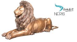 Статуя из бронзы «ЛЕЖАЩИЙ ЛЕВ» для водного декора