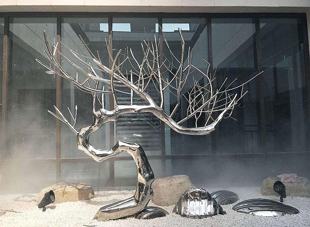 """Дерево из нержавеющей стали """"МАЙВИ"""" для декора водных пространств"""