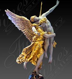 Скульптура для водного декора из бронзы «Cлава побежденным»