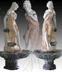 Мраморный скульптурный фонтан «ВИКТОРИАНСКАЯ ЛЕДИ»