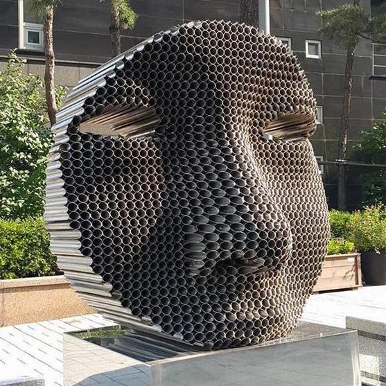 Скульптурная фигура для водного декора  «Лицо»