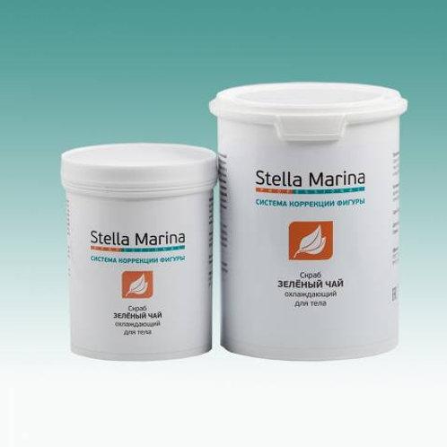 Скраб на основе морской соли «Зеленый чай» для тела 500/1000 мл