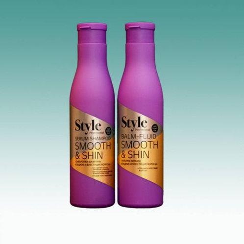 Сыворотка-шампунь и бальзам «Smooth & Shine» Гладкие и блестящие волосы