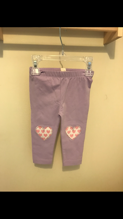 Brand new with tags - Hatley lilac Heart leggings - size 6-9 months