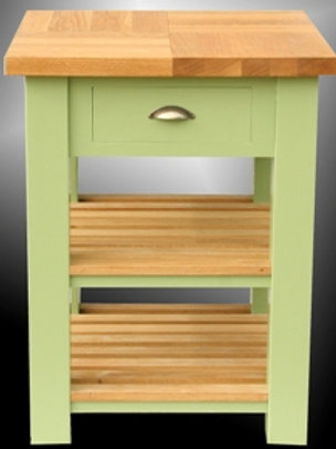 Small Painted Butcher's Block with shelves & Drawer