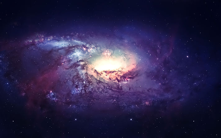 Galaxy in space, beauty of universe, bla