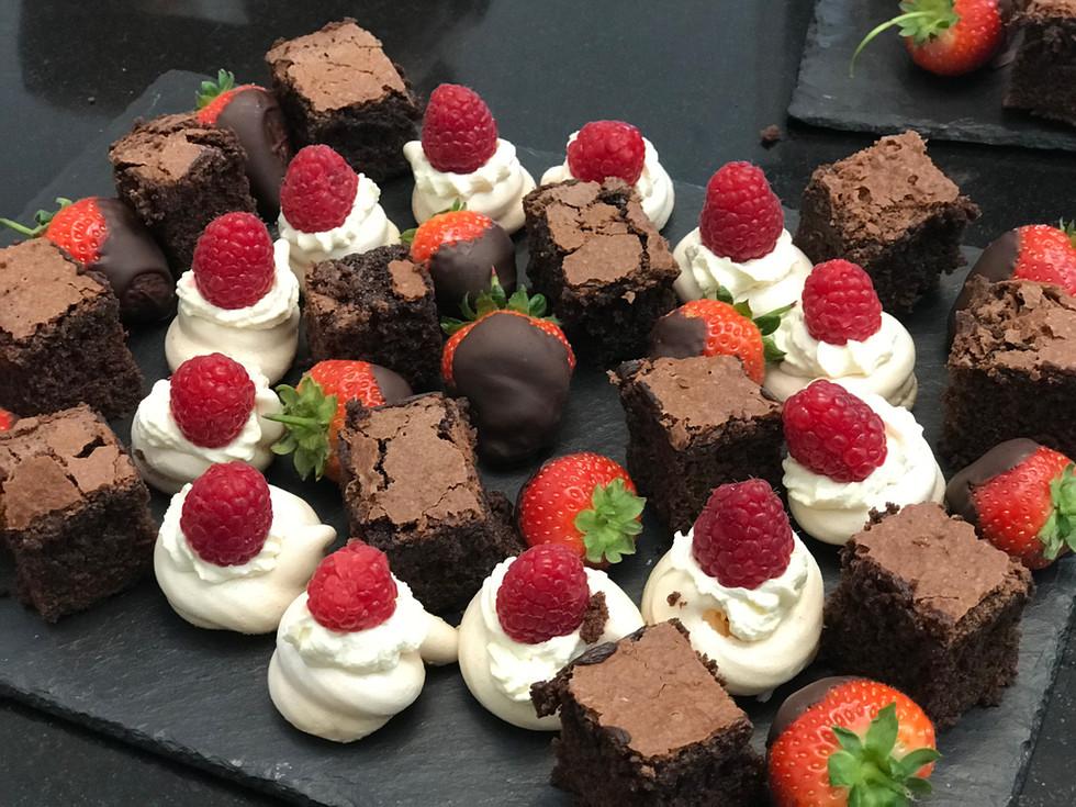 Chocolate Brownie Platter