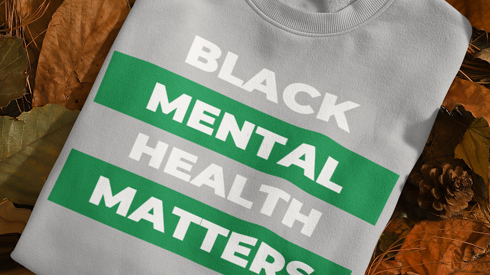 Black Mental Health Matters Unisex Jersey Long Sleeve Tee