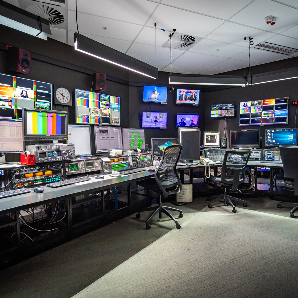 TV editing and broadcasting studio in Sao Paulo