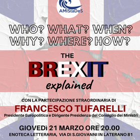 "Marzo 2019 - ""The Brexit explained"""