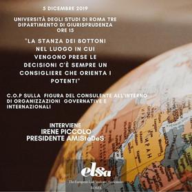 5 dicembre 2019 - COP sulla figura del consulente nelle OO.II. e nelle istituzioni