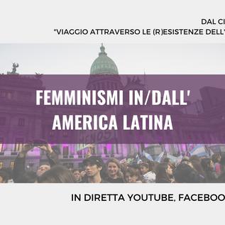 """Webinar gratuito """"Femminismi in/dall'America Latina"""" - 5 marzo 2021"""
