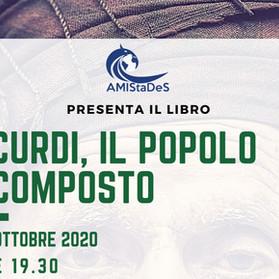 """Presentazione del Libro """"I Curdi, il Popolo Scomposto""""- 22 ottobre 2020, ore 19.30"""