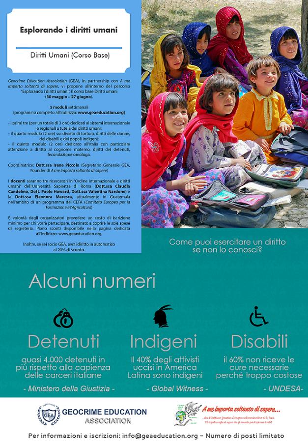 """Percorso online """"Esplorando i diritti umani"""" - Corso base"""
