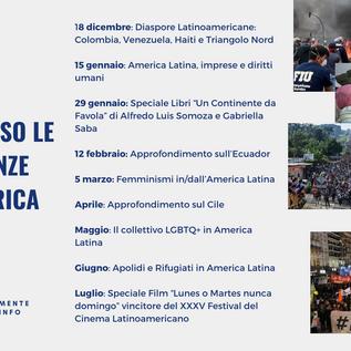 """Ciclo di Webinar """"Viaggio attraverso le (r)esistenze dell'America Latina""""– Dicembre 2020/Luglio 2021"""
