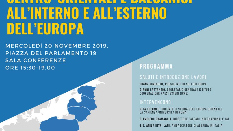 20 novembre 2019- II Incontro Geopolitico delle Nazioni dell'area Tre Mari