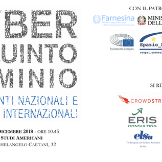 """12 dicembre 2018, """"Cyber Il Quinto Dominio. Esperimenti nazionali e strategie internazionali"""""""