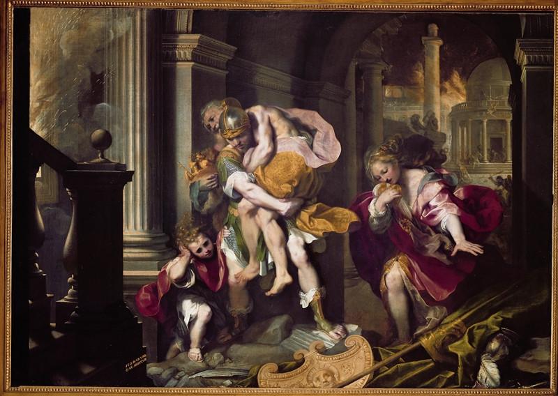 Fuga di Enea da Troia (F. Barocci)