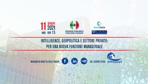 """Webinar gratuito """"Intelligence, geopolitica e settore privato: per una nuova funzione manageriale"""""""