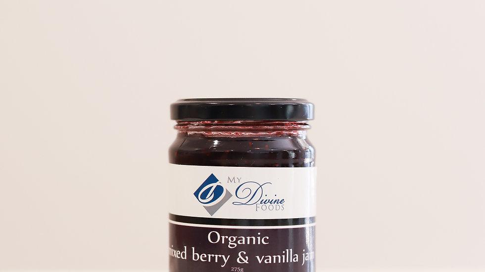 Organic Mixed Berry and Vanilla Jam - (275g)