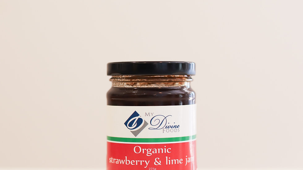 Organic Strawberry and Lime Jam - (275g)