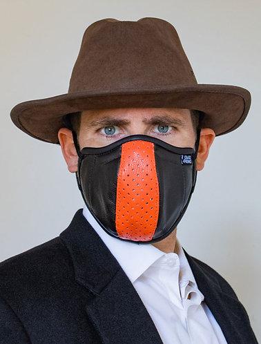 Mens Mask - Black and Orange