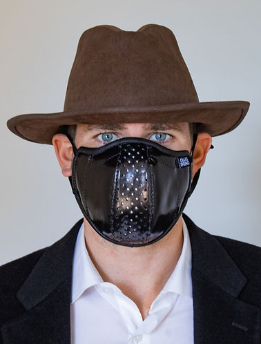 Mens Mask - Black Kidskin