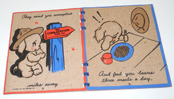 WWII Hallmark greeting card to new service member