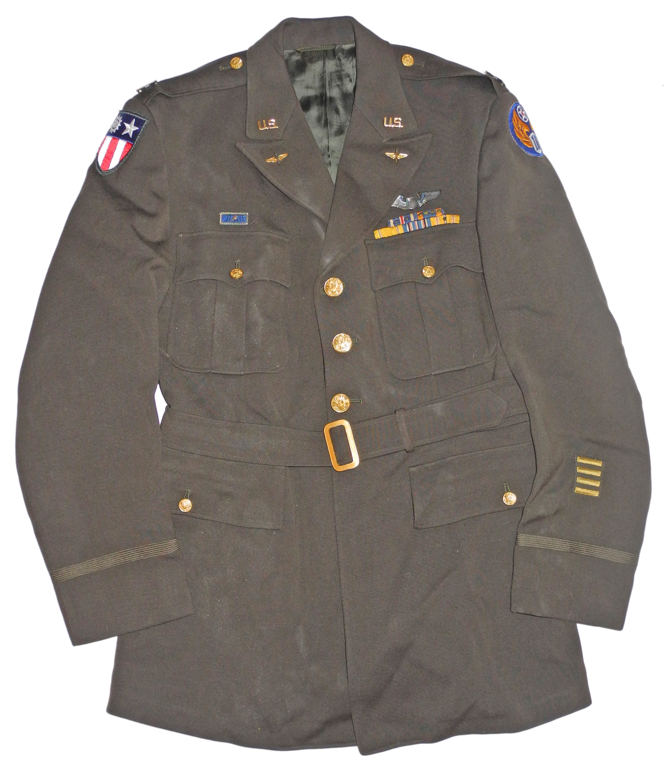 AAF CBI 10th AF officer's 4-pocket tunic