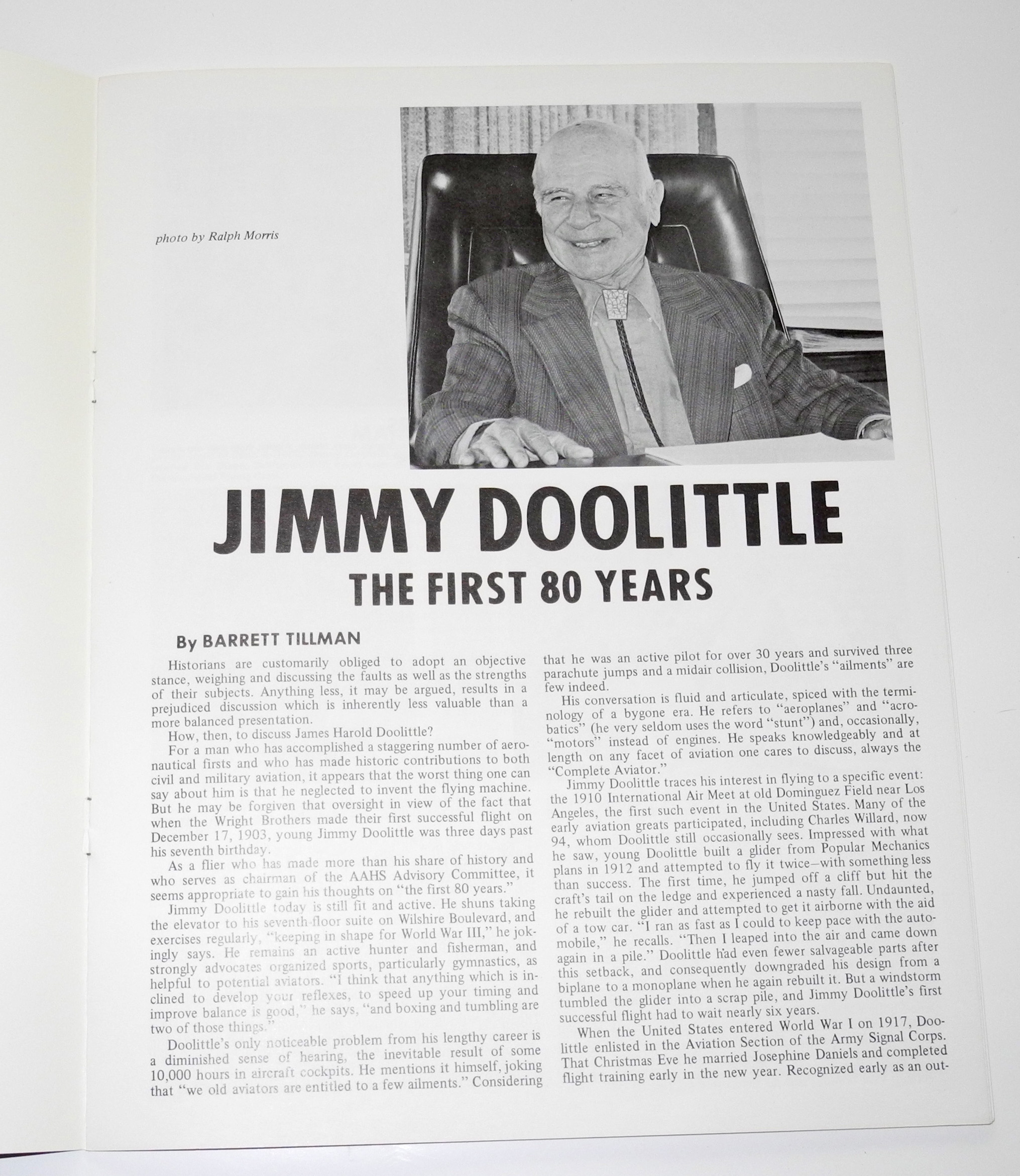 Jimmy Doolittle signed booklet