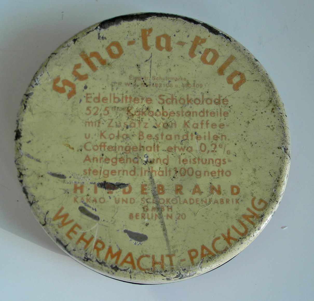 Scho-ka-kola tin Berlin (empty)