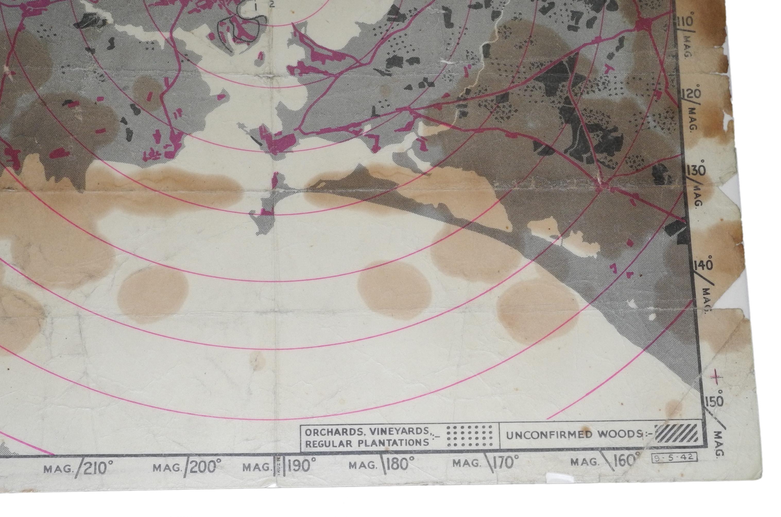 RAF Bombing Chart Lorient