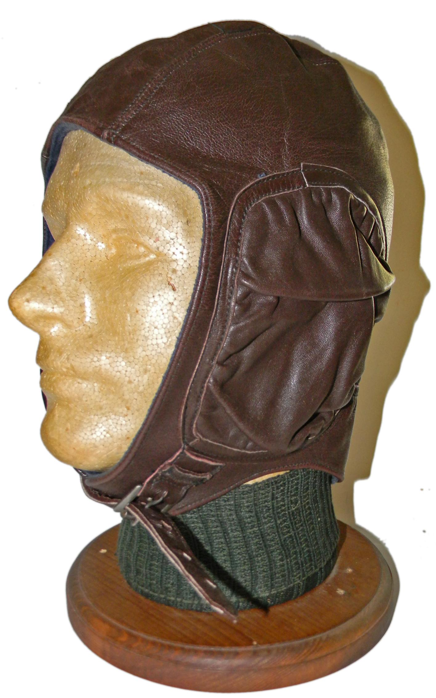WWII Bulgarian flying helmet