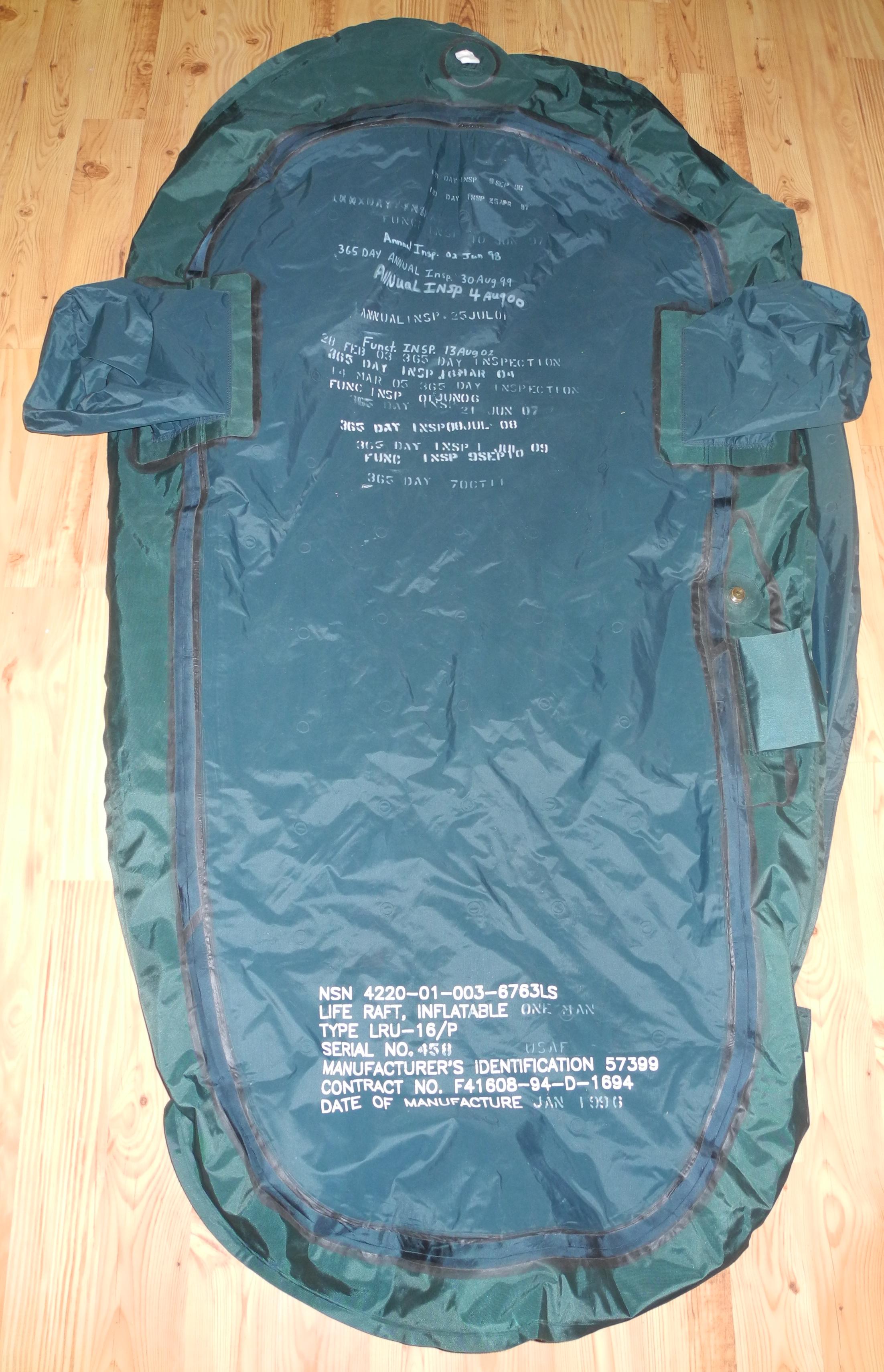USAF LRU/16P life raft for F-16