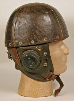 RAF early glider / crash helmet