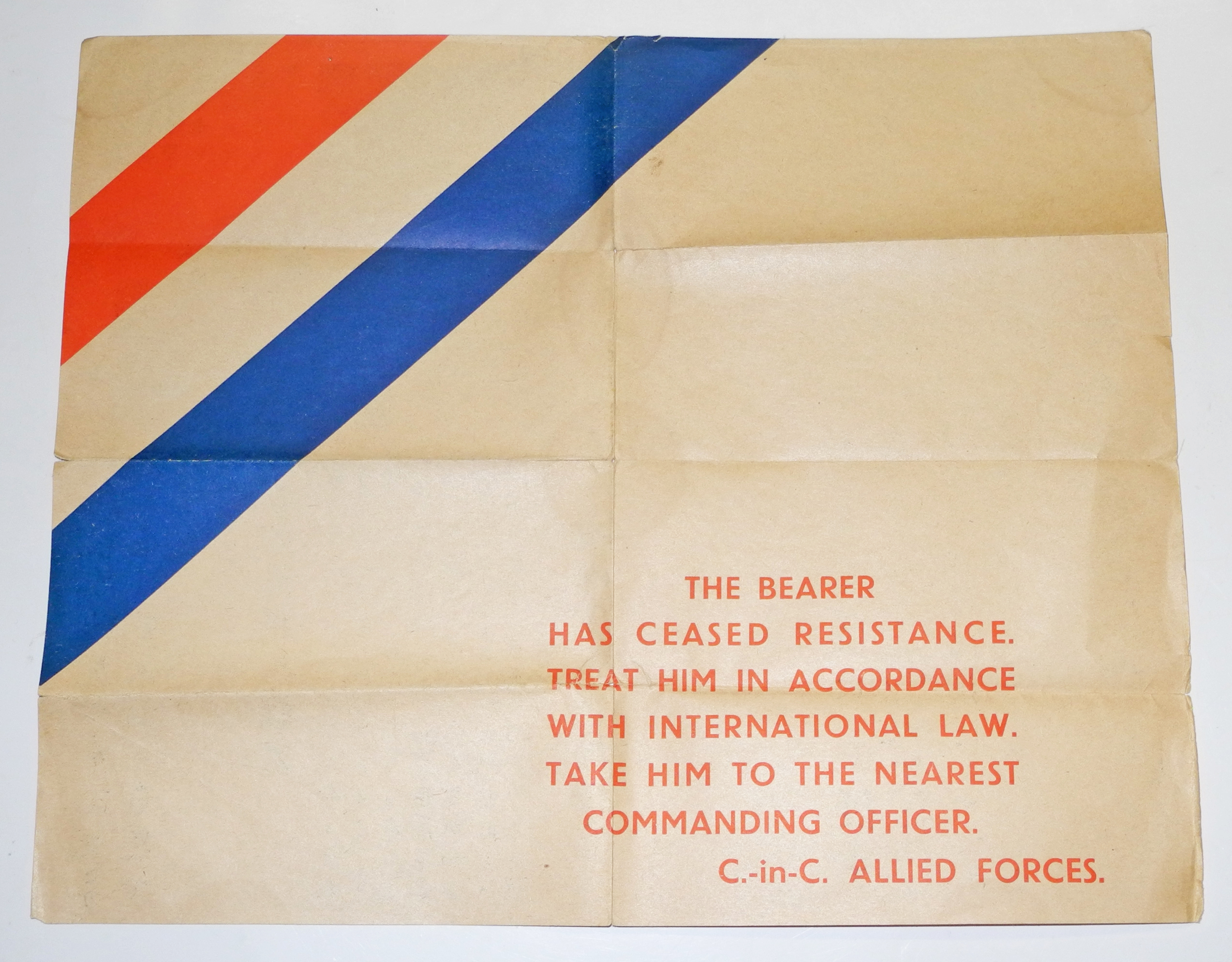 Japanese safe conduct pass