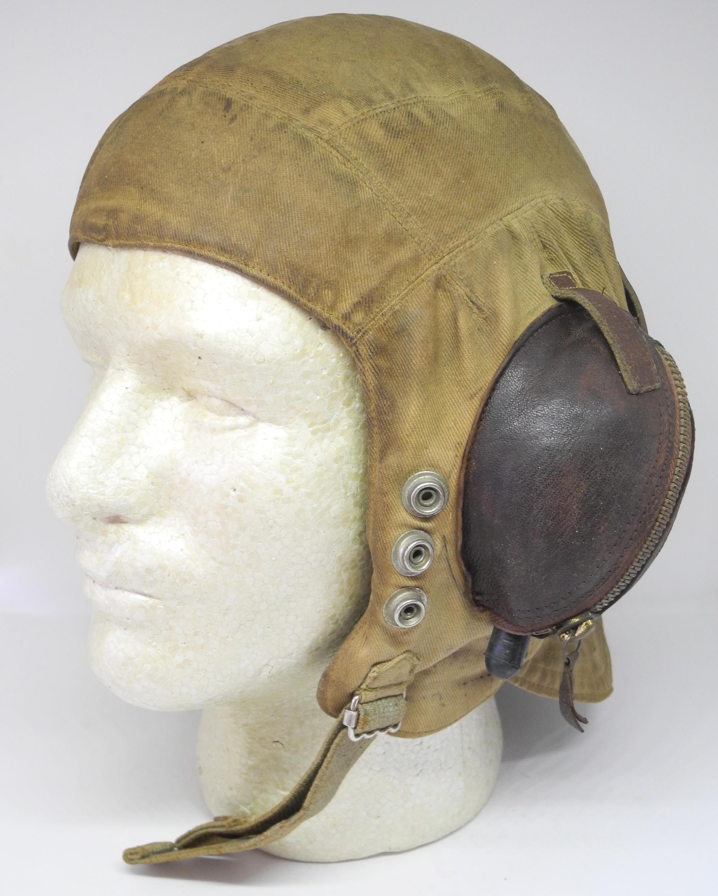Fleet Air Arm Type D flying helmet