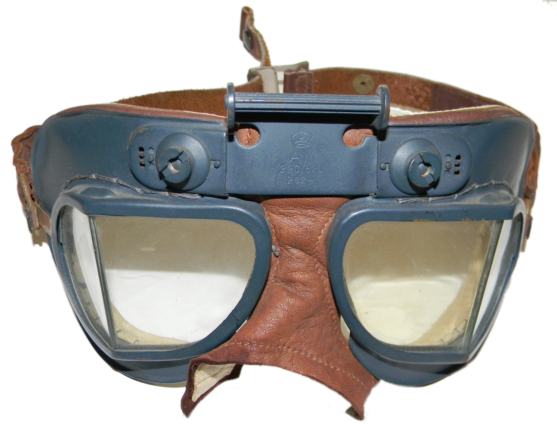 RAF Mk VII goggles with leaher strap