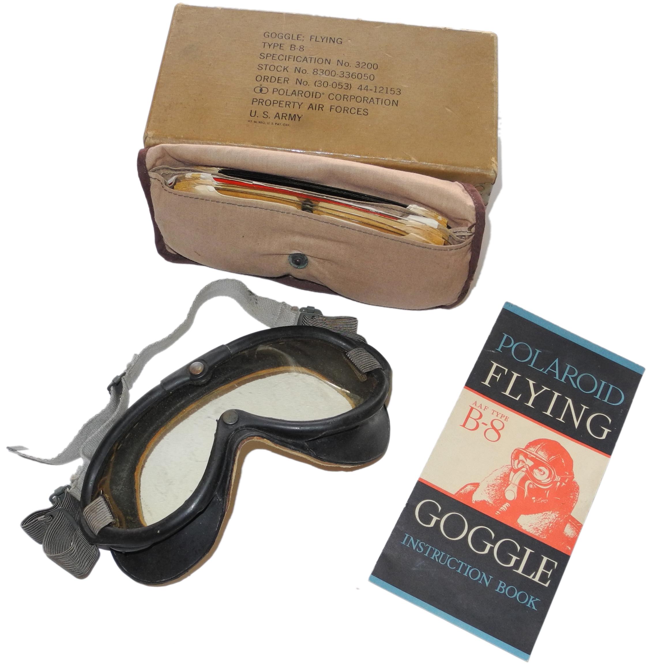 AAF B-8 goggles boxed