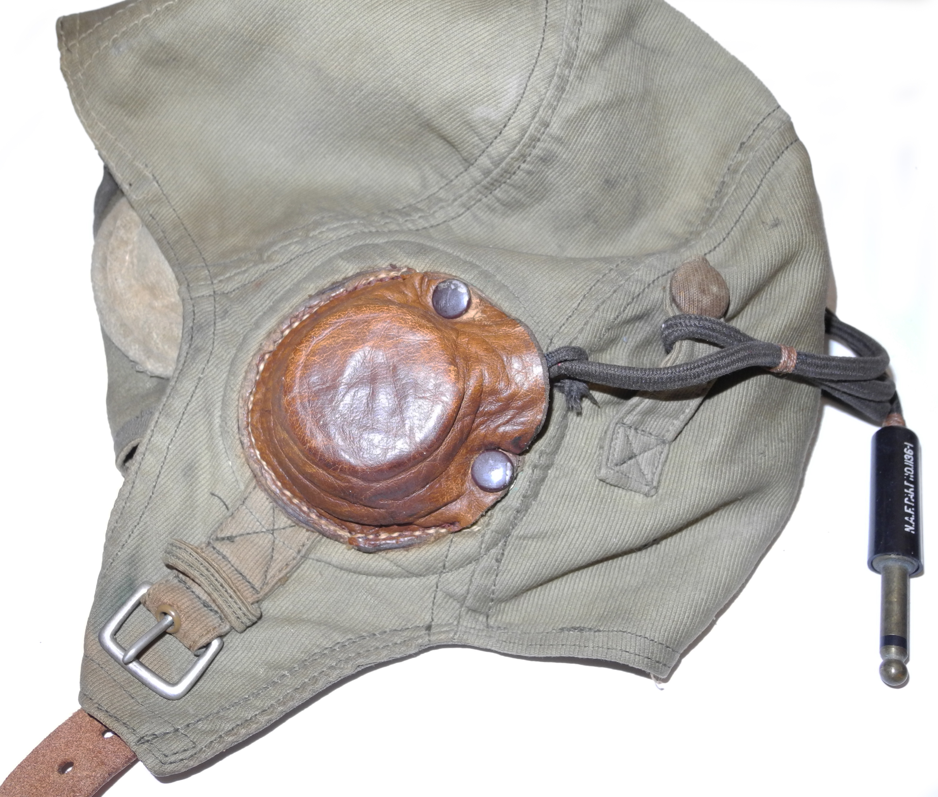USN Green Bedford Cord flying helmet